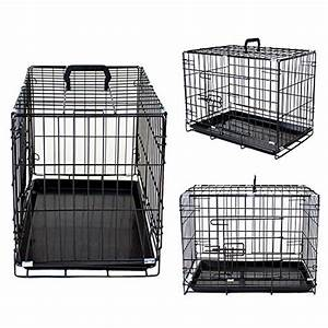 secure and compact double door metal dog crate extra With best deals on dog crates