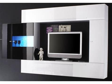 lustres de cuisine ensemble meuble tv murale blanc noir laque a led massimo