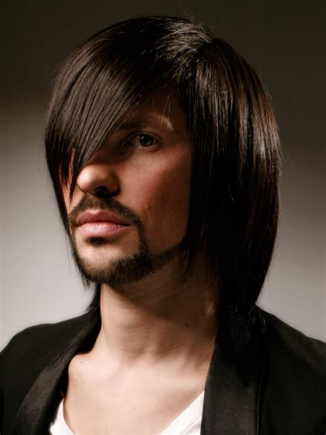 long hair  men shoulder length tapered cut