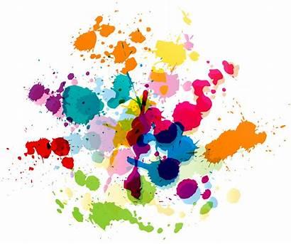 Splatter Paint Transparent Splat Clipart Colorful Clip