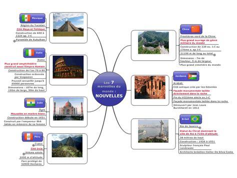 les 7 merveilles du monde moderne les 7 merveilles du monde nouvelles mind map biggerplate