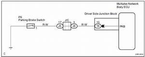 Toyota Sienna Service Manual  Parking Brake Switch Circuit