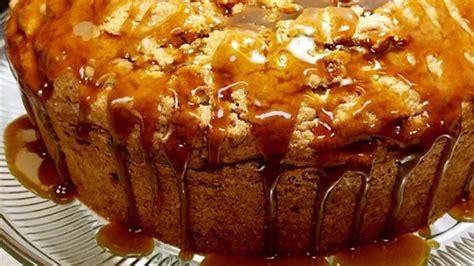 apple harvest pound cake  caramel glaze recipe