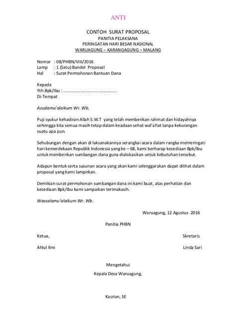 Contoh Surat Permohonan Sponsor by Contoh Surat Rasmi Sponsor Downlllll