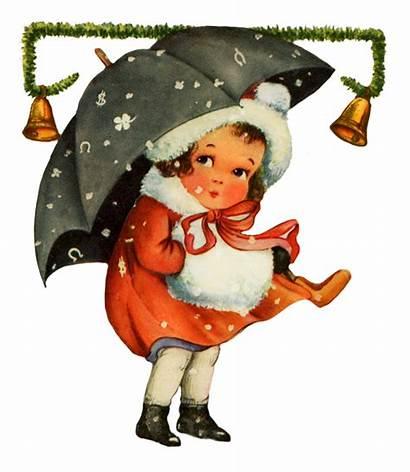 Christmas Clipart Clip Winter Snow Charming Santa