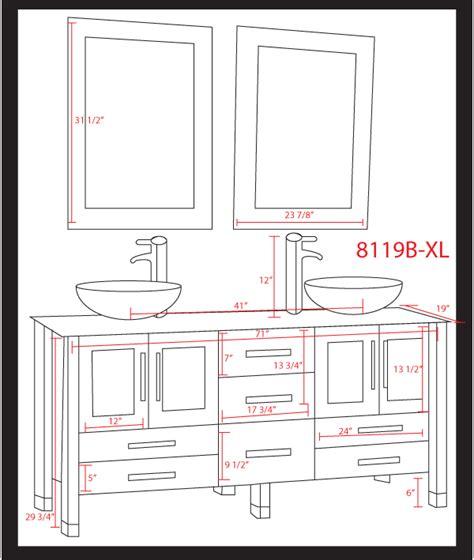 double sink vanity sizes impressive bathroom vanity dimensions 7 double sink