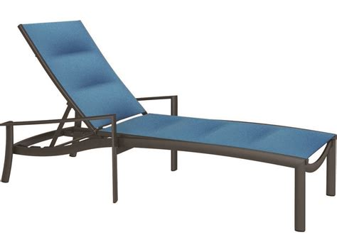 chaise alu tropitone kor padded sling aluminum chaise lounge tp891532ps