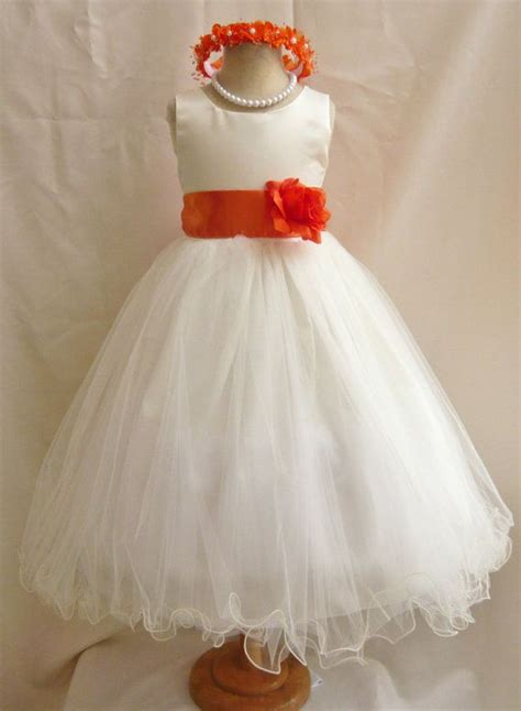 burnt orange bridesmaid dresses girl dress ivoryorange
