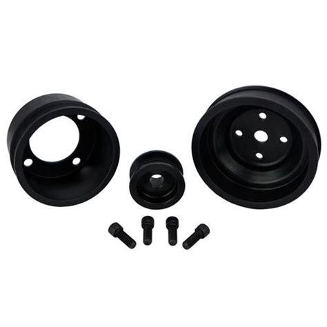 sve mustang underdrive pulley gates micro v belt kit black 87 93 5 0