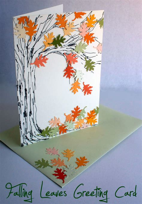 Falling Leaves Greeting Card  Atop Serenity Hill