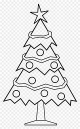 Coloring Tree Christmas Pages Mas Clipart sketch template