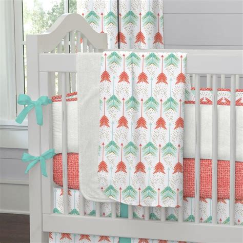 coral  teal arrows fabric   yard coral fabric