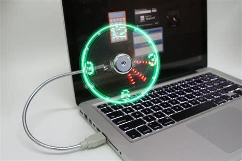 Innovative USB LED Fan Clock   Home Designing