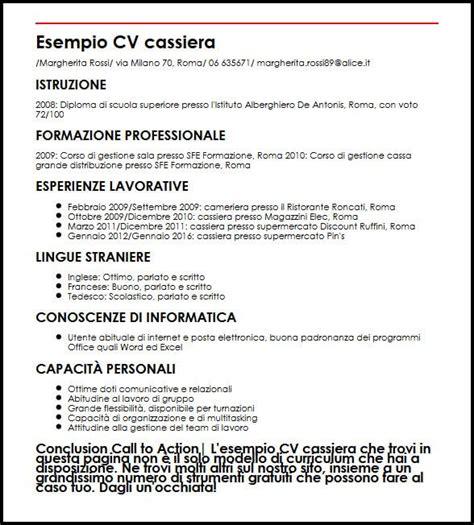 Curriculum Vitae Builder by Esempio Curriculum Vitae Commessa Supermercato