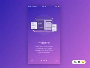 #20   Welcome Screen   .sketch by Luka Dadiani - Dribbble