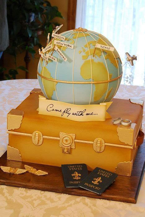 Traveling Around The World Cake By Lourdes Could Say Come