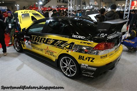 modded sports cars direzza mitsubishi lancer sports modified cars