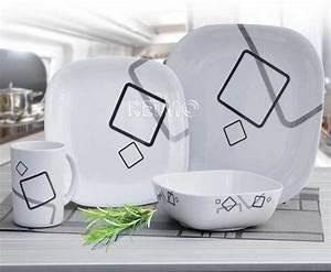 Service A Vaisselle : cuneo service a vaisselle avec antiderapant 4 personnes 16 pi ces ~ Teatrodelosmanantiales.com Idées de Décoration