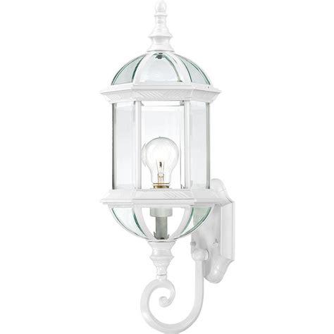 filament design 1 light white outdoor wall mount lantern hd 604971 the home depot