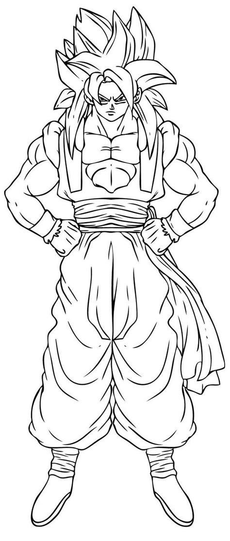 goku super saiyan  form  dragon ball  coloring page kids play color