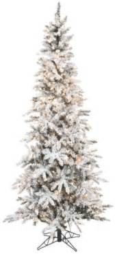 artificial tree flocked slim pencil pre lit tree 400 clear lights