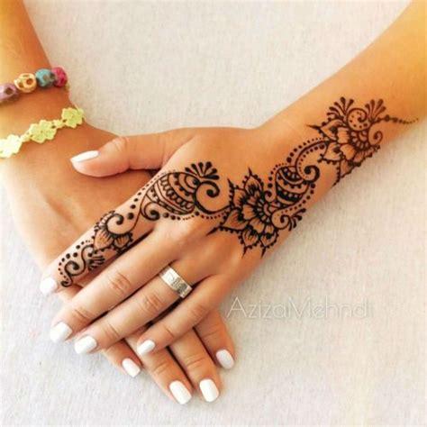 modele de henné 40 delicate henna designs inspirations tatouages