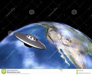 Planet Earth And Alien Spaceship Royalty Free Stock Image ...