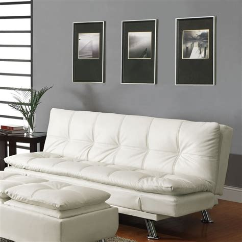 shop coaster fine furniture white vinyl futon  lowescom