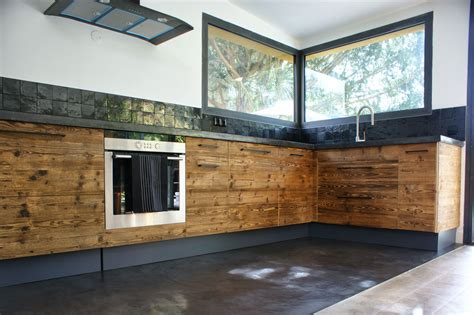 cuisine beton cire bois salle de bain beton cire et bois