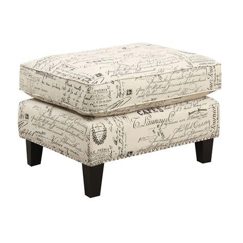 script chair and ottoman emery ottoman script