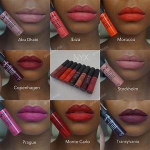 Nyx soft matte lip cream swatches on brown skin | Dark ...