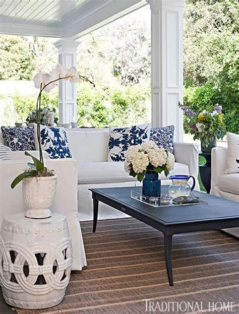 Palette Classic Blue White by Bill And Giuliana Rancic S Covered Porch Features A