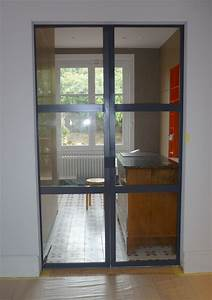 cometac porte metallique coulissante a galandage battante With double porte a galandage interieur