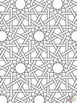 Islamic Coloring Mosaic Pages Ornament Printable Mosque Tablets sketch template