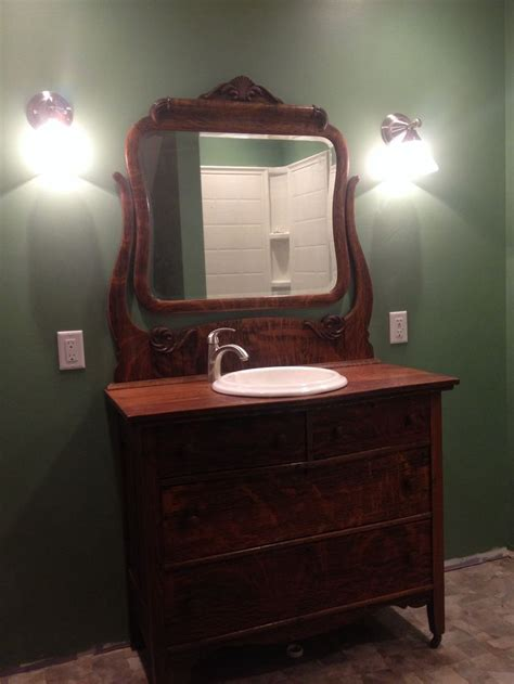 antique dresser   bathroom vanity antique