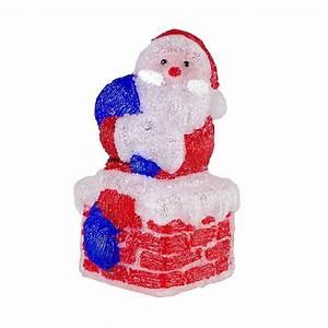 Acryl Für Aussen : led santa claus figur weihnachtsmann acryl 60 leds ip44 f r innen und au en weihnachten ~ Frokenaadalensverden.com Haus und Dekorationen