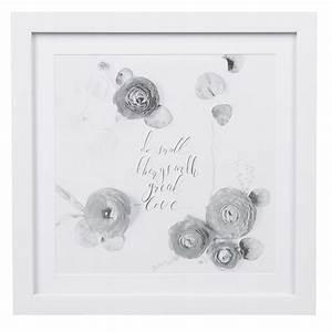Cadre Deco Noir Et Blanc : cadre d co design fleurs zen noir blanc affiche et cadre d co d coration murale d coration ~ Melissatoandfro.com Idées de Décoration