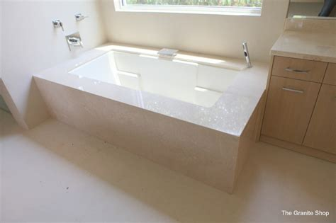 The Tile Shop Dallas by Botticino Classico Marble Tub Deck Amp Skirt Contemporary