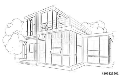 Haus Gezeichnet Vorne by Quot Architektur Skizze Zeichnung Haus Quot Stockfotos Und