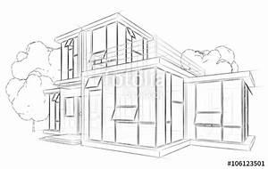 Haus Strichzeichnung Einfach : architektur skizze zeichnung haus stockfotos und lizenzfreie bilder auf bild ~ Watch28wear.com Haus und Dekorationen