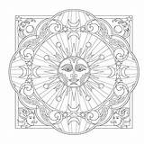 Mandalas sketch template