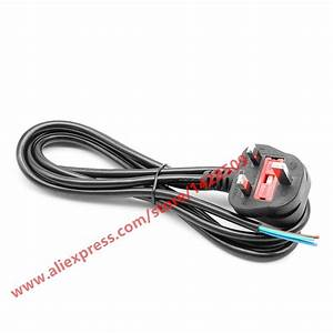 High Quality Uk Plug 3 Wire Power Cord Cable Laptop Ac 3