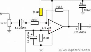 single rail op amp power supply With singleledcircuitgif