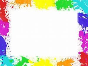 Tache De Couleur Peinture Fond Blanc : montage photo cadre taches de peinture pixiz ~ Melissatoandfro.com Idées de Décoration