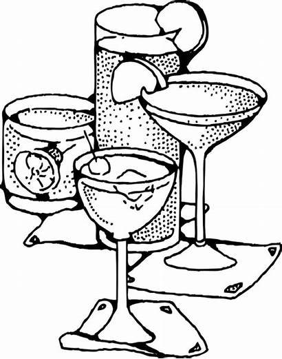 Drinks Coloring Pages Juice Water Logos Beverages