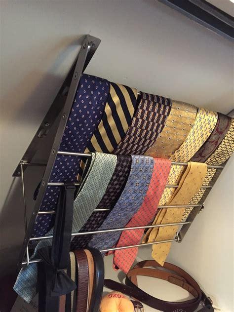 tie hanger  sloping roof ikea hackers