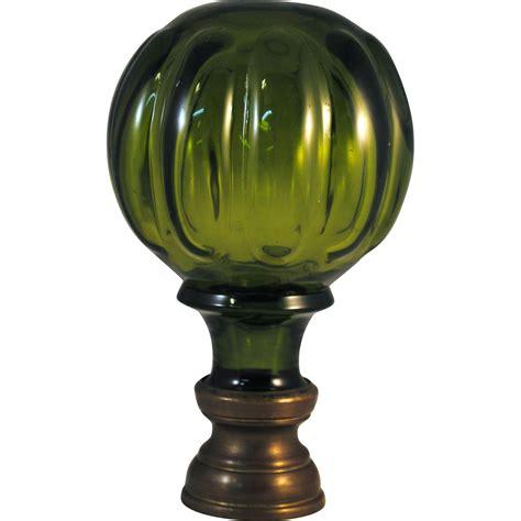 glass l finials olive green glass newel post finial from hazenhoward on