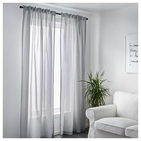 White And Gray Curtains by Gulsporre Curtains 1 Pair White Grey 145x250 Cm Ikea