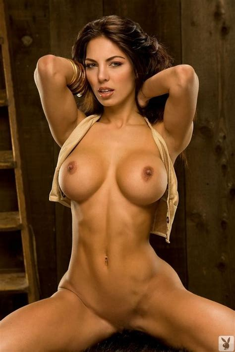 Smoking Hot Tanned And Toned Brunette Bolted On Tits