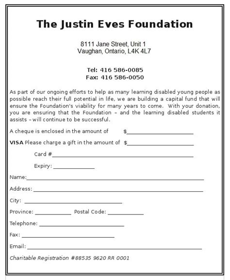 6 charitable donation form templates formats exles in word excel